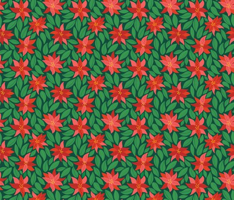 Rpoinsettias_dark-green0_shop_preview