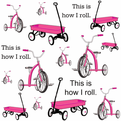 This Is How I Roll Pink fabric by sunshineandspoons on Spoonflower - custom fabric