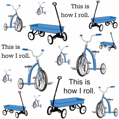 This Is How I Roll Blue fabric by sunshineandspoons on Spoonflower - custom fabric
