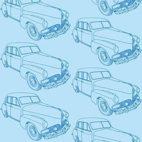 blue 1941 Studebaker line drawing