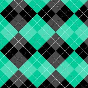 Argyle Caribbean Green Diamond Pattern