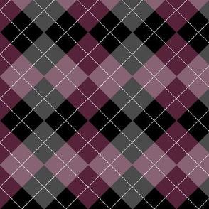 Argyle Wine Berry Red Diamond Pattern