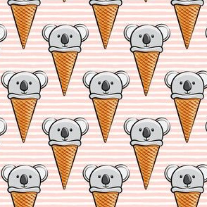 koala icecream cones -rose stripes