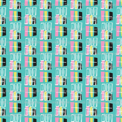 Memphis Style Geometric Abstract Seamless Vector Pattern