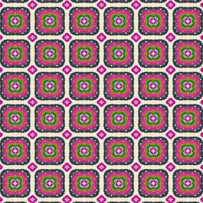 Hip to be square - pink and green