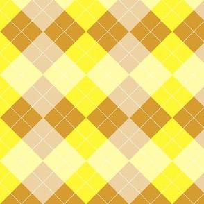 Argyle Yellow Mango Diamond Pattern