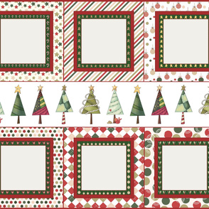 Ready to embroider Christmas pillow size panel