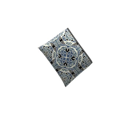Ecco squared tile, small, blue