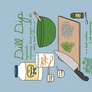 recipe tea towel dill dip