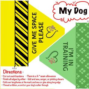 Dog training bandana