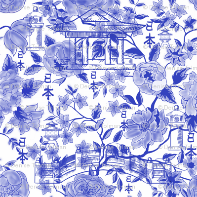 Chinoiserie Roses and Vines