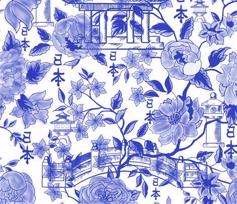 Chinoiserie Roses and Vines fabric by fabric_is_my_name on Spoonflower - custom fabric