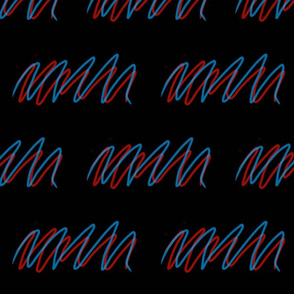Blue and Red Squiggle