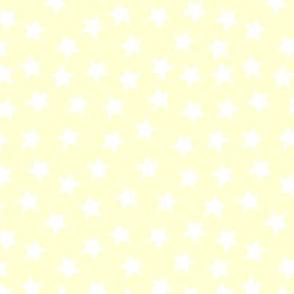 ditsy stars - baby yellow