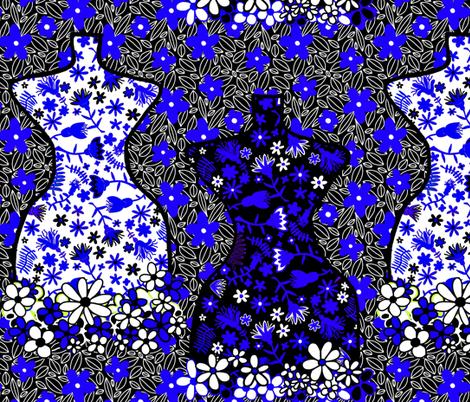Mannequins Pattern. 06 fabric by maryartdecor&design on Spoonflower - custom fabric