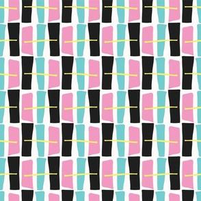 Memphis Style Geometric Abstract Seamless Drawn Pop Art