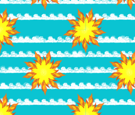 sunny day fabric by jeansdesire on Spoonflower - custom fabric