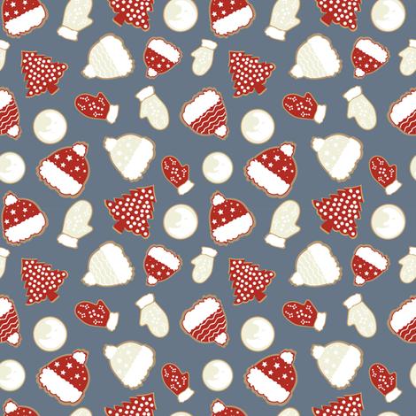 Christmas Cookies White Red Wallpaper Pimprenellestudio Spoonflower