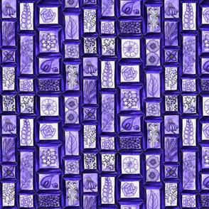 Framed Florals violet monochrome
