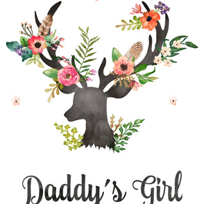 "27""x36"" Daddy's Girl / 2 to 1 yard of Minky"