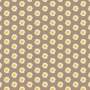 Little Flower on Gray Brown, Small