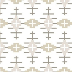 Aztec Path- Neutral, White