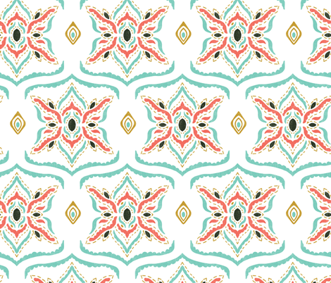 Primal Motif - White fabric by scarlette_soleil on Spoonflower - custom fabric
