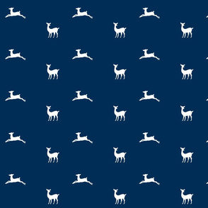 Deer 2 - MED58 navy blue white
