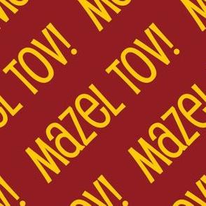 Mazel Tov! on Diagonal Red Gold-01