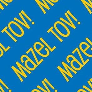 Mazel Tov! on Diagonal Blue Gold Light Blue-01