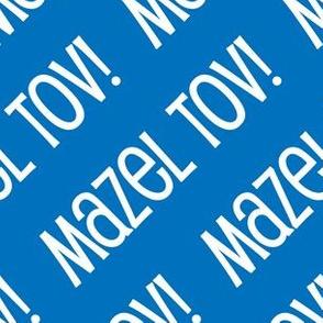 Mazel Tov! on Diagonal Blue White Light Blue-01-01