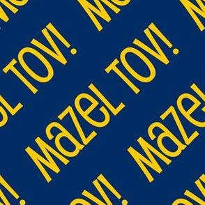 Mazel Tov! on White on Dark Blue Gold-01