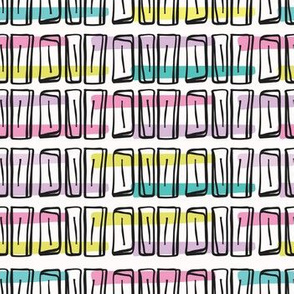 Memphis Style Scribble Abstract Seamless Vector Pattern, Hand Drawn Pop Art