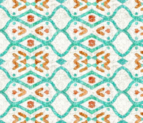 Southwest batik, teal, medium fabric by palifino on Spoonflower - custom fabric