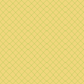 Yellow with Green Lines