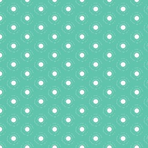 Moon Dots on Turquoise