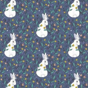 Jackalope Floral, Winter Colors, Small