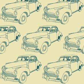 1942  Studebaker 2 door line drawing