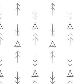 Inky Tipi & Arrows
