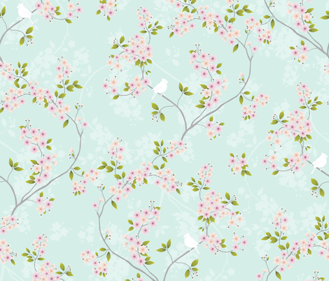 Sakura fabric by agakobylinska on Spoonflower - custom fabric