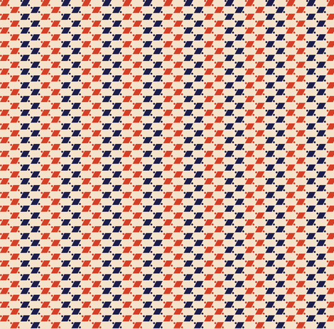 Airmail Diamond Stripes* (Vintage) || geometric post postal mail polka dots stripe striped red white blue 30s 1930s fabric by pennycandy on Spoonflower - custom fabric