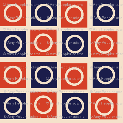 Airmail Check* (Vintage) || geometric squares circles polka dots post postal mail red white blue checkerboard 30s 1930s