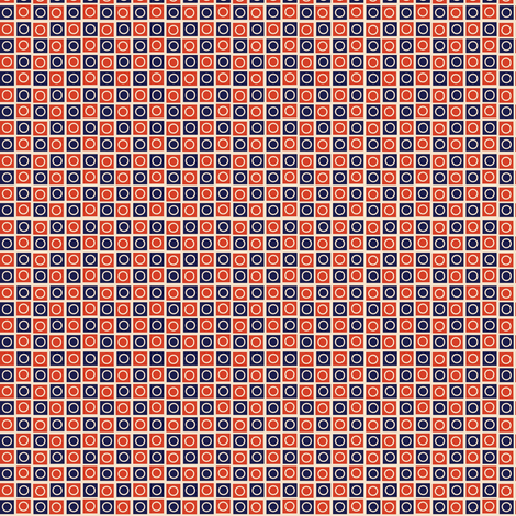 Airmail Check* (Vintage) || geometric squares circles polka dots post postal mail red white blue checkerboard 30s 1930s fabric by pennycandy on Spoonflower - custom fabric