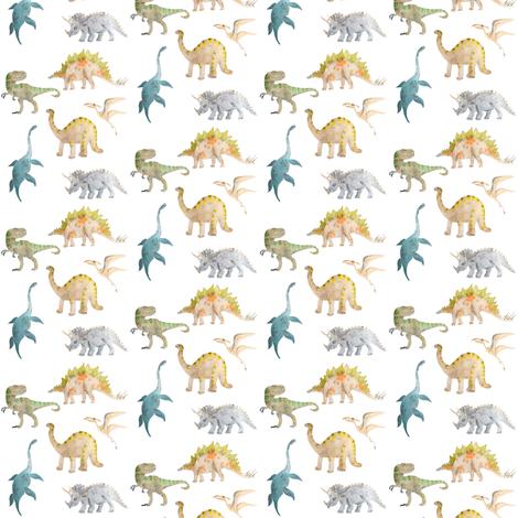 dinosaur mini fabric by erinanne on Spoonflower - custom fabric