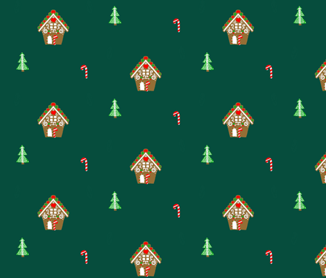 Gingerbread villa fabric by hejamieson on Spoonflower - custom fabric
