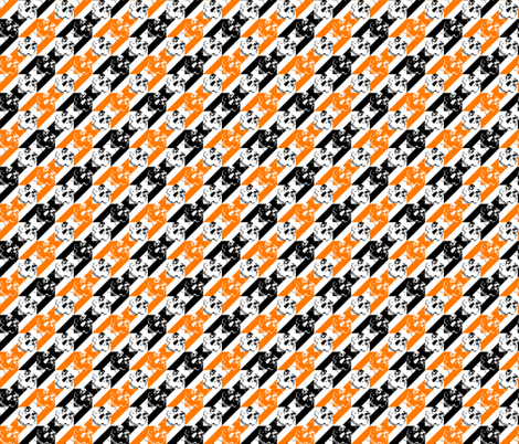 houndstooth of the dead halloween2 small fabric by b0rwear on Spoonflower - custom fabric