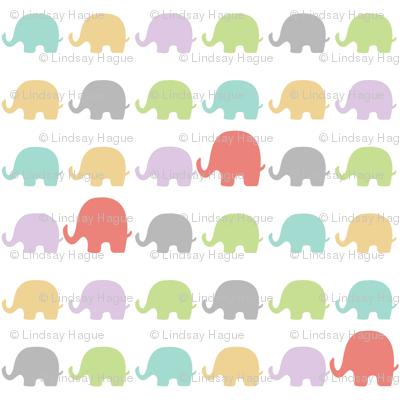 Elephants-Pastels