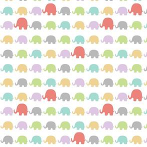 Small Elephants-Pastels