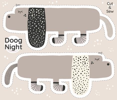 Cut & Sew DOOG NIGHT fabric by looshdesign on Spoonflower - custom fabric