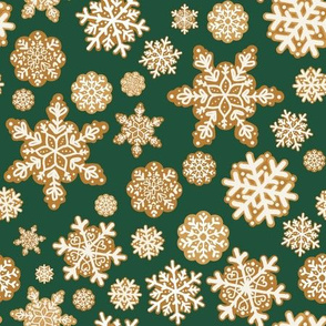 Gingerbread Snowflakes // green